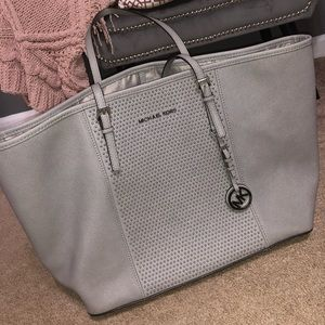 Grey Studded Michael Kors Tote